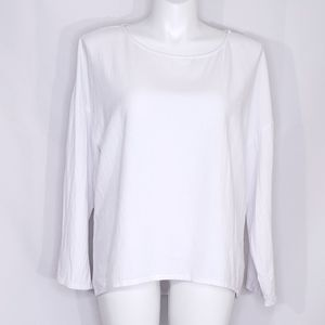 Soft Surroundings White Long Sleeved Blouse Size L